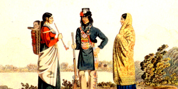 Rindisbacher, Metis and his 2 wives
