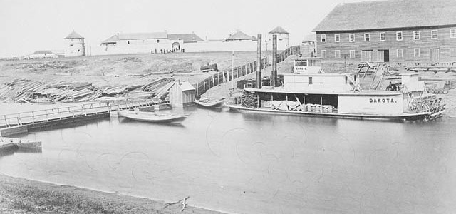 Upper Fort Garry in the early 1870s